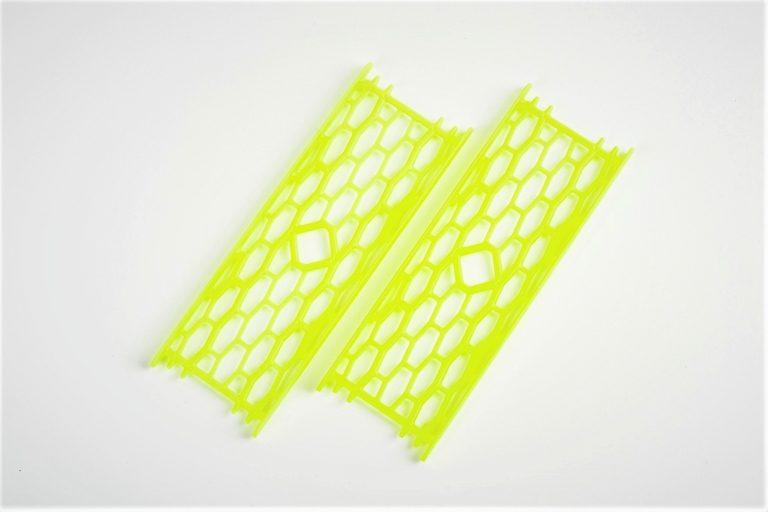 Drabinka do zestawów nr1 żółta fluo.  Mocna drabinka wykonana z poliestru w kolorze zółtym fluorescencyjnym do przechowywania gotowych zestawów karpiowych oraz przyponów. Wymiary 15cm x 5cm.