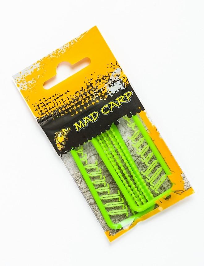 MAD CARP. Stopery do kulek MIX zielone. Kolor zielony. Wykonane z polipropylenu (Moplen HP 548 R).W opakowaniu 2 sztuki. Wymiary 60mm x 30mm. Różne – najbardziej popularne kształty stoperków.
