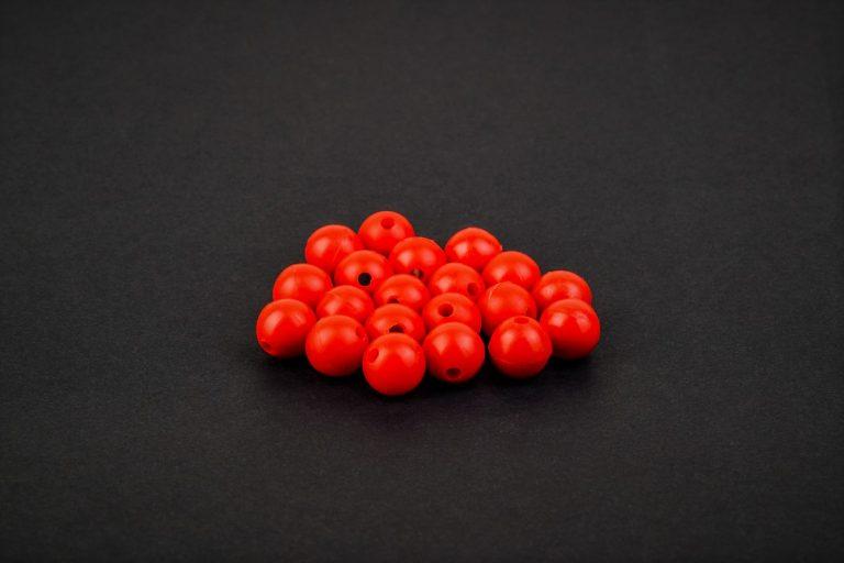 MAD CARP  Koraliki zderzakowe, czerwony, 8mm.