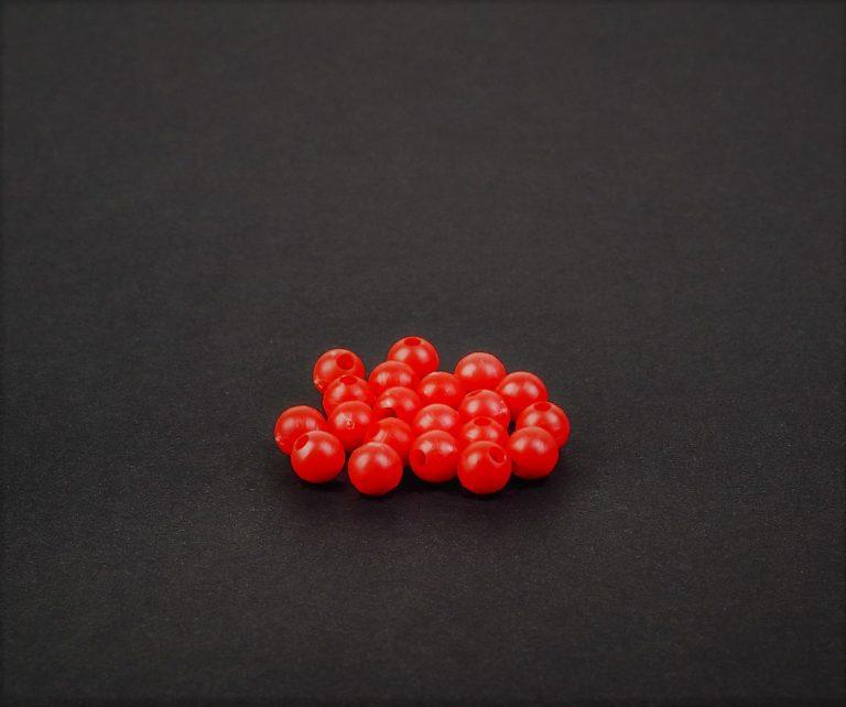 MAD CARP  Koraliki zderzakowe, czerwone, 6mm.
