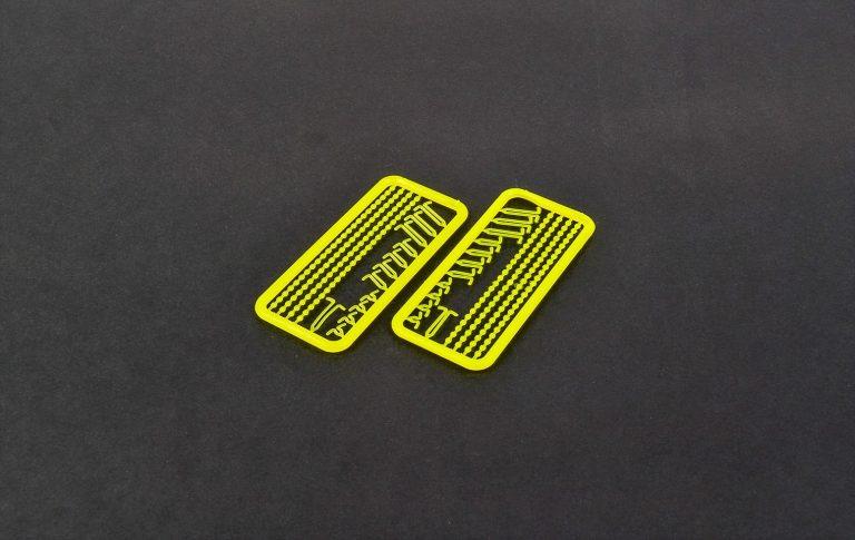 MAD CARP. Stopery do kulek MIX zółte FLUO. Kolor żółty fluorescencyjny. Wykonane z polipropylenu (Moplen HP 548 R).W opakowaniu 2 sztuki. Wymiary 60mm x 30mm. Różne – najbardziej popularne kształty stoperków.