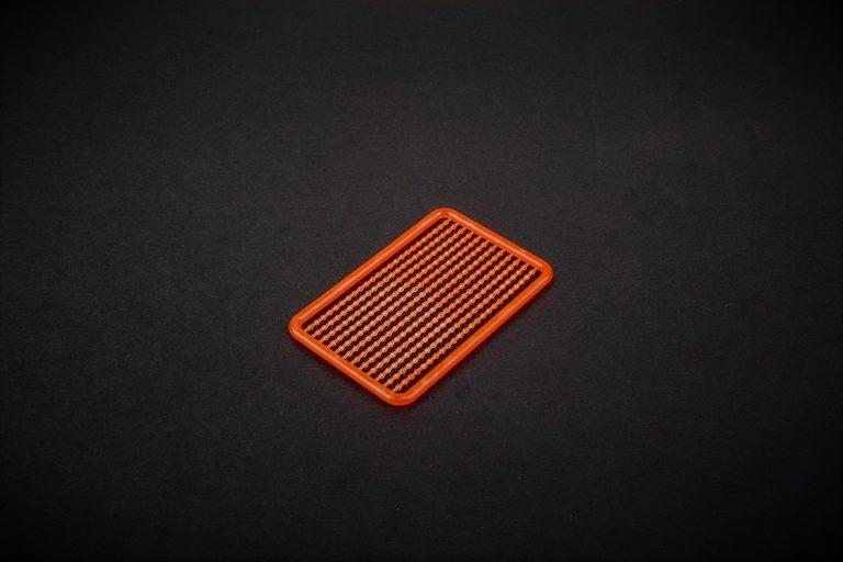 MAD CARP. Stopery do kulek. Wykonane z polipropylenu (Moplen HP 548 R). Kolor orange fluo (pomarańczowy fluorescencyjny). Znakomicie nadają się także do pelletu. Wymiary 68mm x 45mm.Zestaw 144 szt.