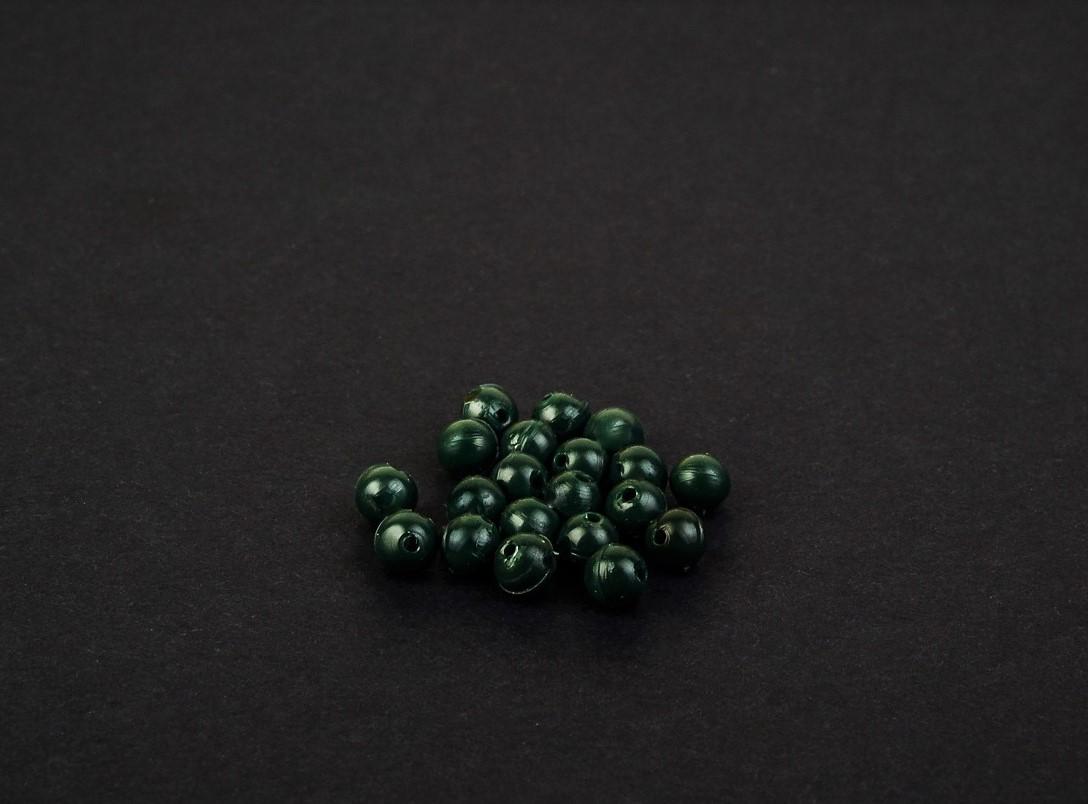 MAD CARP  Koraliki zderzakowe, zieleń zgniła, 6mm.