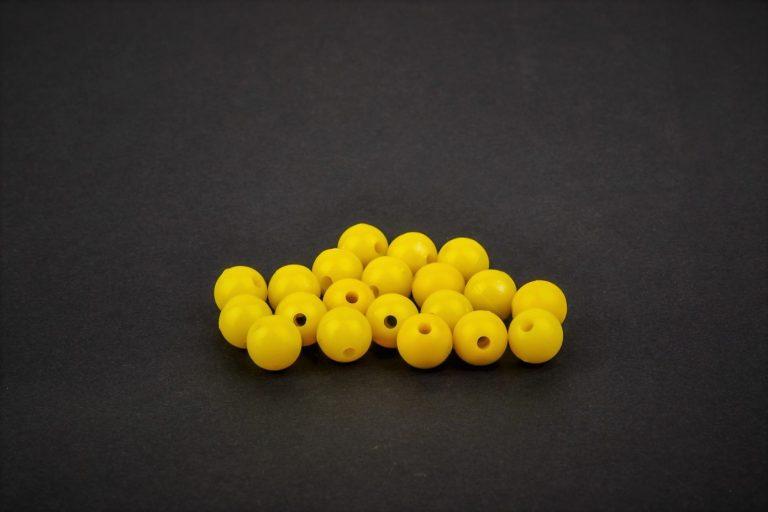 MAD CARP   Koraliki zderzakowe. Przekrój 8mm. Kolor żółty.