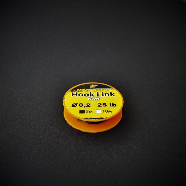 MAD CARP  Materiał przyponowy SOFT 0,2mm DARK CAMOU (5m), 25lb (11,3 kg).